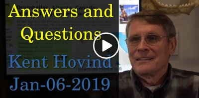 Kent Hovind - Answers and Questions (Januady-06-2019)