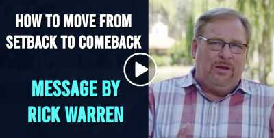 Rick Warren - How to Move from Setback to Comeback (July-25-2020)
