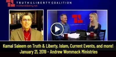 Kamal Saleem on Truth & Liberty, Islam, Current Events, and more! - January 21, 2019 - Andrew Wommack Ministries