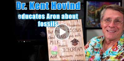 Dr. Kent Hovind educates Aron about fossils (July-10-2019)